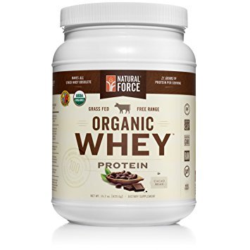 Natural Force® Organic Whey Protein Powder *RANKED #1 BEST TASTING* Grass Fed Whey – Undenatured Whey Protein – Raw Organic Whey, Paleo, Gluten Free Natural Whey Protein, Cacao Bean, 15.2 oz. - Organic Protein Powders