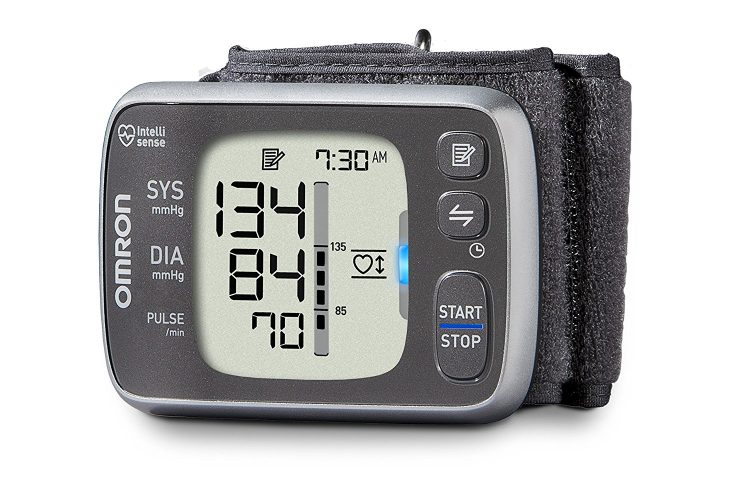 Omron 7 Series Bluetooth Wireless Wrist Blood Pressure Monitor (100 Reading Memory)- Compatible with Alexa