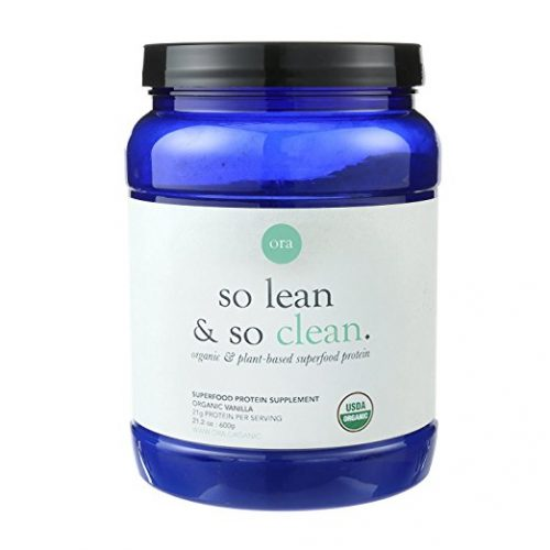 Ora Organic Protein Powder - Vanilla, Plant-based, 21g Protein Per Serving, 2 Servings of Superfood Greens, 1g of Sugar, 21.2oz (600g) - Organic Protein Powders