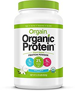 Orgain Organic Plant Based Protein Powder, Vanilla Bean, Vegan, Non-GMO, Gluten Free, 2.03 Pound, 1 Count, Packaging May Vary - Organic Protein Powders