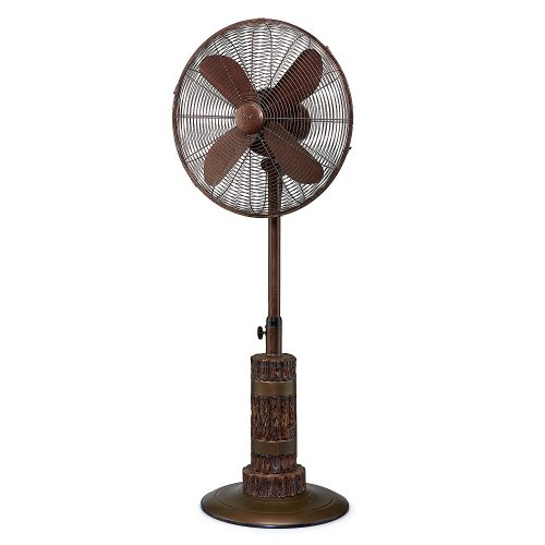 Oscillating Standing Floor Fan - Adjusts from 40-51 Inches High - 3 Speeds and Whisper Quiet for Cooling Your Room Quickly and Quietly - Beautiful Home Decor Designs - 900, 1100, 1280 RPM Settings - Pedestal Fan