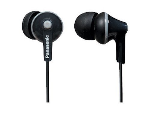 Panasonic ErgoFit In-Ear Earbuds Headphones with Mic/Controller RP-TCM125-K - earbuds