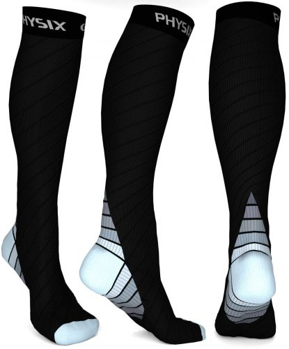 Physix Gear Sport Compression Calf Sleeves [unisex, 20-30mmhg] - Compression Leg Sleeves