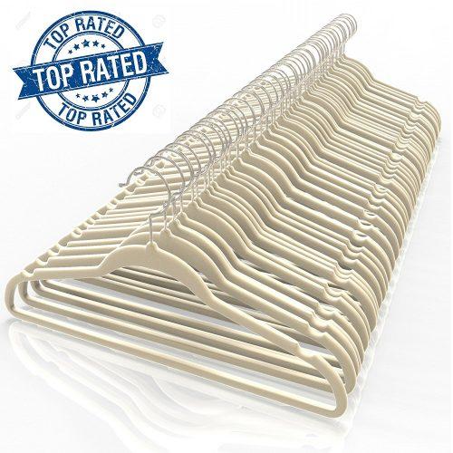Premium Quality Velvet Hanger [Set of 50].