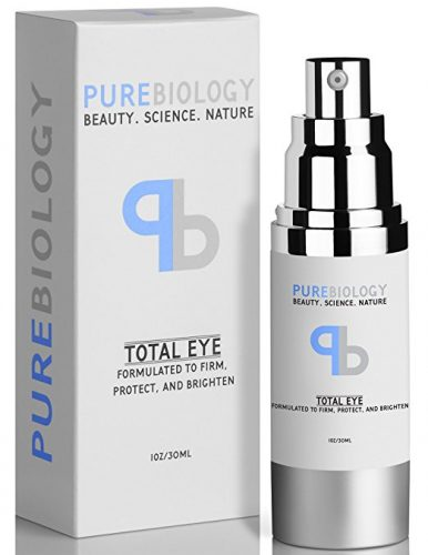 "Pure Biology ""Total Eye"" Anti Aging Eye Cream Infused with Instant Lift Technology & Baobab Fruit Extract - Instant Firming & Long-Term Reduction in Wrinkles, Bags & Dark Circles (1 oz.) - Eye Creams For Women"