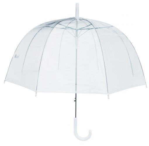 RainStoppers Bubble Umbrella, Clear, One Size