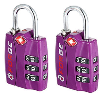 TSA Approved Luggage Locks, Alloy Body, Red Indicator
