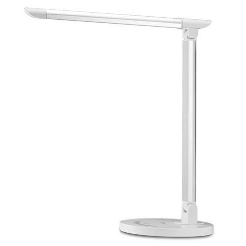 TaoTronics LED Desk Lamp, Eye-caring Table Lamps, Dimmable Office Lamp with USB Charging Port, Touch Control, 5 Color Modes, White, 12W, Official Member of Philips EnabLED Licensing Program - Desk Lamps