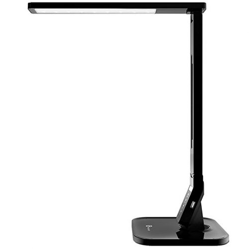 TaoTronics TT-DL01 14W LED Desk Lamp with USB Charging Port, Touch Control, 4 Lighting Mode with 5 Brightness Levels, Timer, Memory Function Black - Desk Lamps