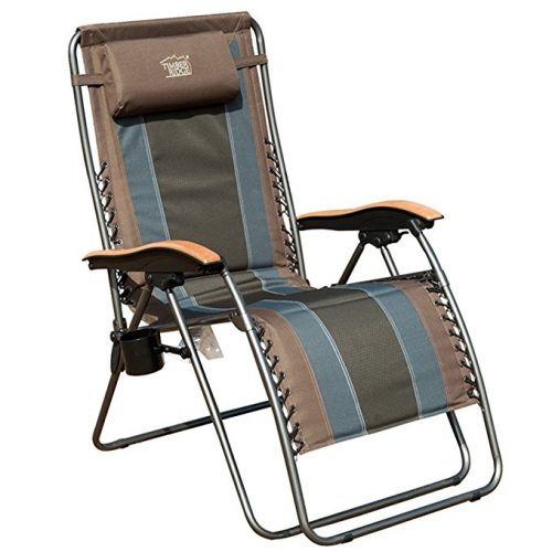 Timber Ridge Zero Gravity Patio Lounge Chair Oversize XL Padded Adjustable Recliner with Headrest Support 350lbs - Zero Gravity Chairs