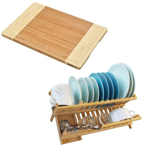 WELLAND Bamboo Wood Compact Foldable Bread Slicer - bread slicers