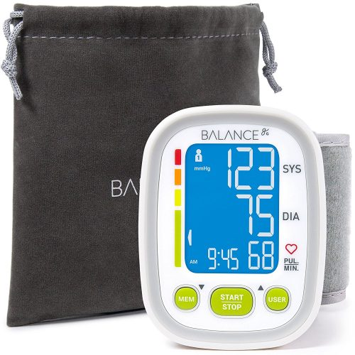 Wrist Blood Pressure Cuff Monitor by Balance,2017 Update Ultra Portable High Accuracy Readings, Easy-to-Read LCD, Travel Bag included with Two User Support and 2-Year Warranty