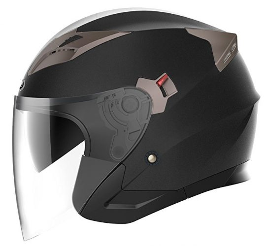 YEMA Motorcycle Open Face Helmet YEMA YM-627 - Motorcycle Helmets for Women