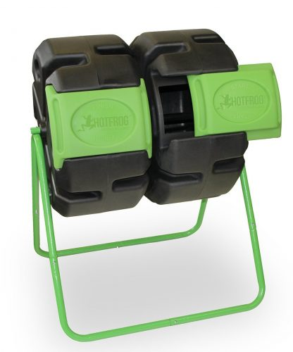 Dual Body Tumbling Composter by HOTFROG - Composting Bins