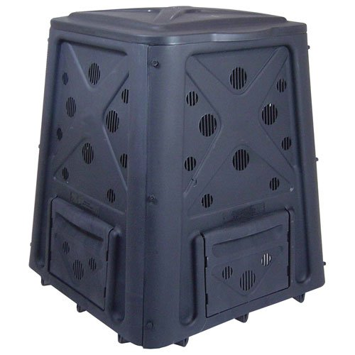Lifetime 60058 Compost Tumbler, Black, 80-Gallon - Composting Bins