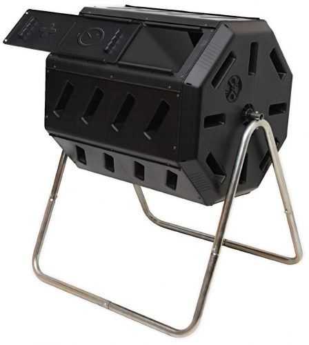 Yimby Tumbler Composter, Color Black - Composting Bins