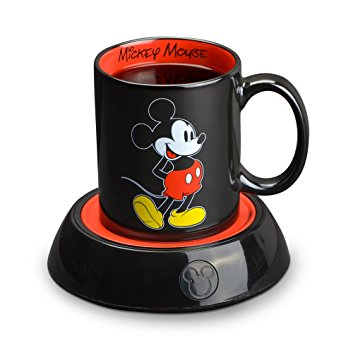Disney Mickey Mouse Mug Warmer, Black/Red