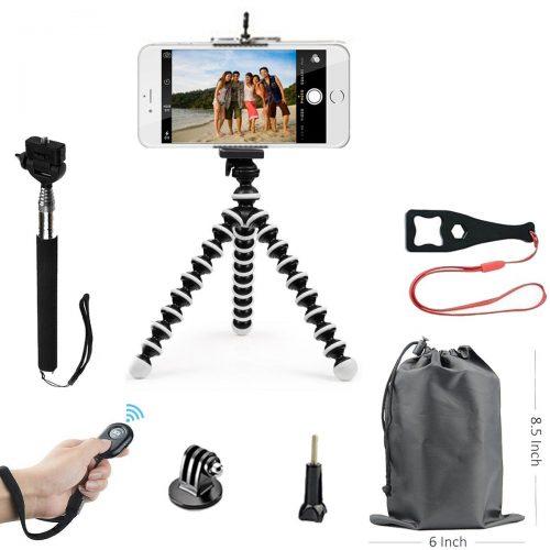 SMILEPOWO Lightweight Mini Tripod And Universal Smartphone Tripod Adapter, Phone Tripod, Selfie Stick Tripod, Phone Shutter Remote Control