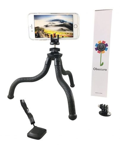 Flexible Portable Adjustable Waterproof Universal Tripod stand Bluetooth remote 5 in 1 Smart Phone holder