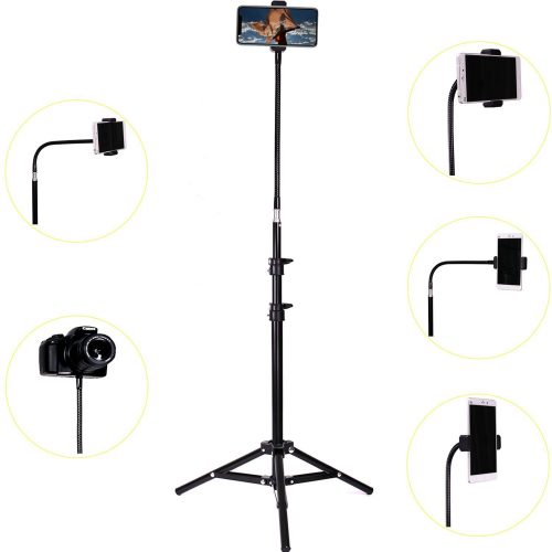 Haitent Retractable Adjustable Cell Phone Tall Tripod Stand Holder