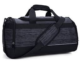 MIER 20 Inch Gym Bag with Shoe Compartment Men Duffel Bag, Medium, Black - Gym Bags