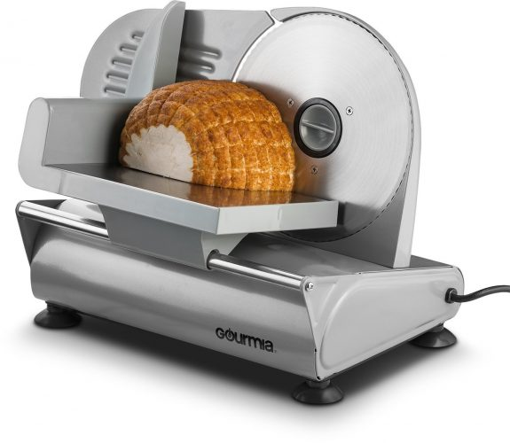 "Gourmia GFS-700 Counterman Professional Electric Power Food & Meat Slicer with 7.5"" Blade, Silver"