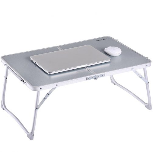 Foldable Laptop Table | Superjare Bed Desk | Breakfast Serving Bed Tray | Portable Mini Picnic Table & Ultra Lightweight | Folds in Half w' Inner Storage Space