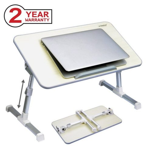 Avantree Adjustable Laptop Table, Portable Standing Bed Desk, Foldable Sofa Breakfast Tray, Notebook Stand Reading Holder for Couch Floor - Mini table Honeydew