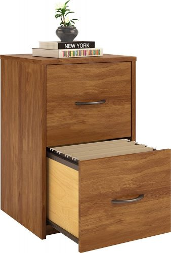 Ameriwood Home Core 2 Drawer File Cabinet, Bank Adler - wooden file cabinets