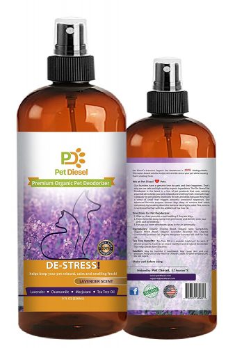 Pet Diesel Premium Pet Deodorizer By Pet Cologne | Pet Perfume| Organic Deodorant With Enzyme, Lavender, Majoram & Chamomile Scent | For Odor Elimination & Bacteria Removal - Dog Deodorants