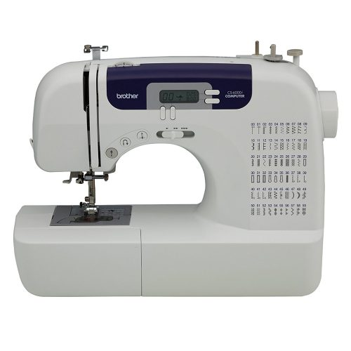 Brother CS6000i Feature-Rich Sewing Machine With 60 Built-In Stitches, seven styles of 1-Step Auto-Size Buttonholes, Quilting Table, and Hard Cover - Sewing Machines