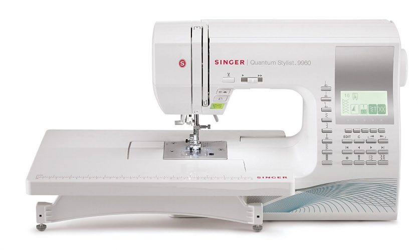 SINGER | Quantum Stylist 9960 Computerized Portable Sewing Machine with 600-Stitches, Electronic Auto Pilot Mode, Extension Table and Bonus Accessories, Best Sewing Machine for Quilting - Sewing Machines