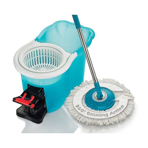 Hurricane Spin Mop Home Cleaning System by BulbHead, Floor Mop with Bucket Hardwood Floor Cleaner - Spin Mops