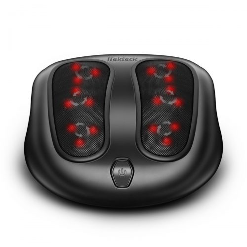 Nekteck Foot Massager Kneading Shiatsu Therapy Plantar Massage with Built-in Infrared Heat Function and Power Cord - Black - Foot Massagers