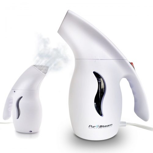 PurSteam Elite Travel Fabric Steamer, Fast-Heat Aluminum Heating Element with Travel Pouch, 180ml Capacity Perfect for Home and Travel - Handheld Fabric Steamers