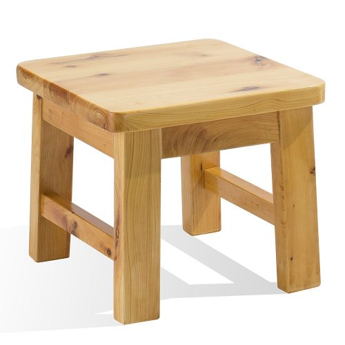 Hardwood birch footstool water resistant multipurpose durable Sturdy non-slip surface wooden square step stool for indoor kitchen bathroom outdoor patio garage