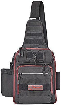 Fiblink Waterproof Sports Single Shoulder Fishing Tackle Bag Backpack or Handbag Crossbody Messenger Sling Bags for Camping Hiking Cycling Outdoors Sport - Fishing Backpacks & Bags