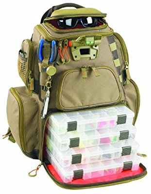 Wild River by CLC WT3604 Tackle Tek Nomad Lighted Backpack with Four PT3600 Trays - Fishing Backpacks & Bags