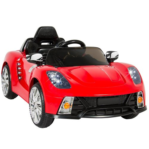 Best Choice Products Kids 12V Ride On Car with MP3 Electric Battery Power, Red - Electric Cars For Kids