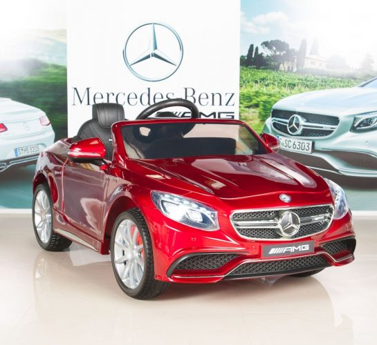 Mercedes-Benz S63 Ride on Car Kids RC Car Remote Control Electric Power Wheels W/ Radio & MP3 Red - Electric Cars For Kids