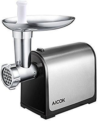 Aicok Electric Meat Grinder, Stainless Steel Meat Mincer & Sausage Stuffer, Heavy Duty Food Grinder Including Sausage Making Kit, Blade & Kubbe Attachment for Home Use &Commercial, ETL Approved - Electric Meat Grinders