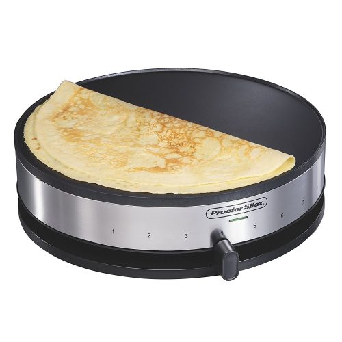 Proctor Silex 38400 Electric Crepe Maker, 13 Inch Griddle & Spatula - Crepe Makers