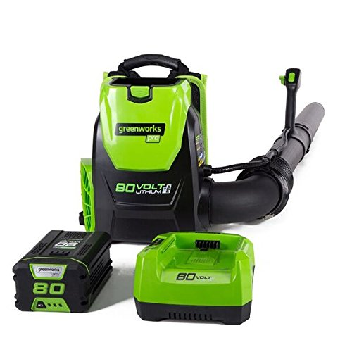 Greenworks PRO 80V 145 MPH - 580 CFM Cordless Backpack Blower, 2.5 AH Battery Included BPB80L2510 - Cordless Backpack Blowers