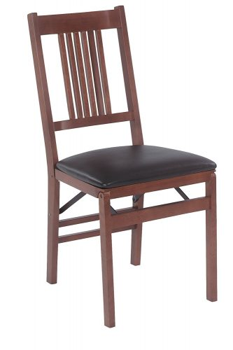 Stakmore True Mission Folding Chair Finish, Set of 2, Fruitwood - Wooden Folding Chairs