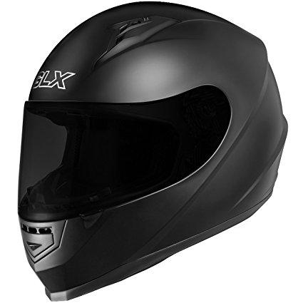 GLX Full Face Motorcycle Helmet Street Sports Bike DOT Approved + 2 Visors