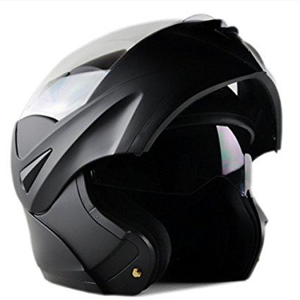 ILM 10 Colors Motorcycle Dual Visor Flip Up Modular Full Face Helmet DOT