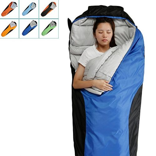 """FARLAND Camping Sleeping Bag-Envelope Mummy Outdoor Lightweight Portable Waterproof Perfect for 20 degree Travelling, Hiking Activities"" - Sleeping Bags"