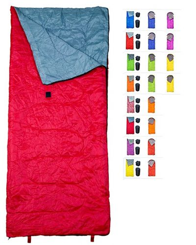 """RevalCamp Sleeping Bag  for Indoor & Outdoor Use. Great for Kids, Boys, Girls, Teens & Adults. Ultralight and compact bags are perfect for hiking, backpacking & camping"" - Sleeping Bags"