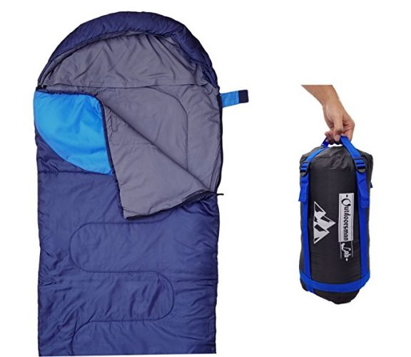 """Sleeping Bag (47F/38F) Lightweight For Camping, Backpacking, Travel by OutdoorsmanLab- Kids Men Women 3-4 Season Ultralight Compact Packable bags with Compression Sack"" - Sleeping Bags"