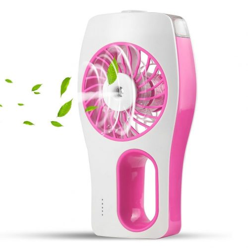 CTLpower Portable Fan,Mini Desk Fan with Misting Personal Cooling and Ultra-quiet for Travel,Home,and Office (Pink)-2019 Upgraded Version